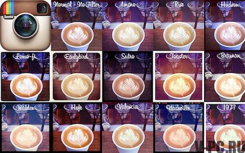 какие есть эффекты для фото в инстаграм