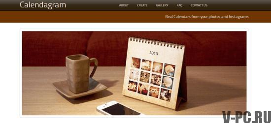 календарик из фотографий инстаграма